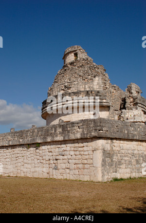 Chichen Itza's Caracol, called the Observatory because of its alignments for observing Venus, and significant stars. - Stock Photo