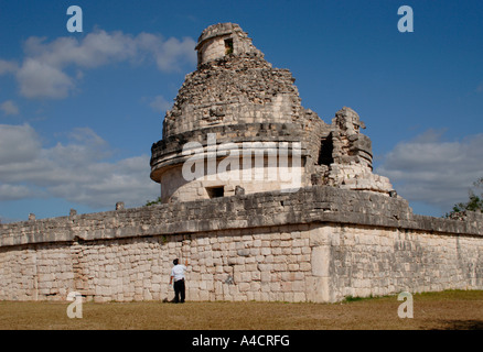 Chitzen Itza's Caracol, commonly called the Observatory, has alignment for observing the moon, Venus, and significant - Stock Photo
