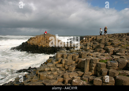 County Antrim Giants Causeway - Stock Photo