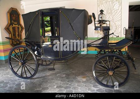 Carriage, Museo de la Ciudad, Palacio de los Capitanes Generales, Havana, La Habana Vieja, Cuba - Stock Photo