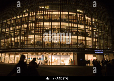 Peek and Cloppenberg Department Store at Night Cologne Germany - Stock Photo
