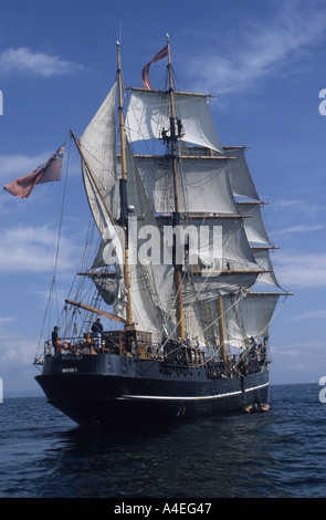 Bristol based Kaskelot is a tall ship built in Denmark in 1948 as a wooden 19th century style three masted trading - Stock Photo