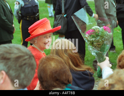 Her Majesty Queen Elizabeth the II visited Fredericton New Brunswick - Stock Photo