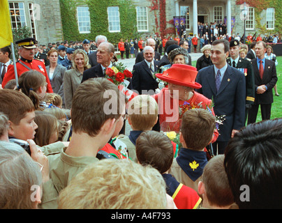 Her Majesty Queen Elizabeth the II Historical Visit to Canada - Stock Photo