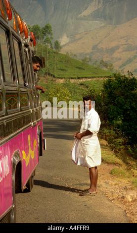 Arranging a fare at Munnar, Kerala, India - Stock Photo