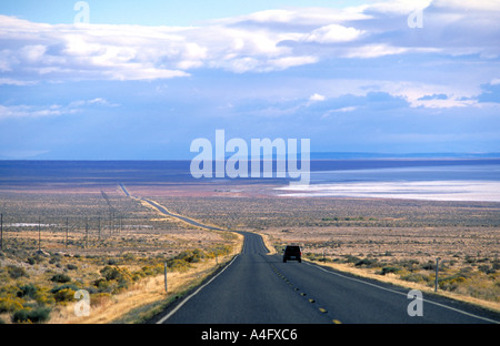 Usa Nevada travelling along the Lincoln Highway Highway 80 - Stock Photo