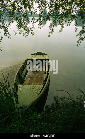 France boat on River Loire at Orleans - Stock Photo