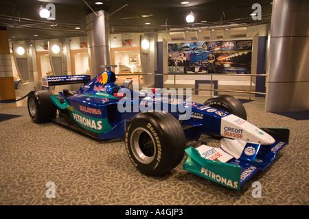Malaysia Kedah Langkawi Mukim Kisap Galeria Perdana Formula 1 Petronas racing car driven by Nick Heidfeld - Stock Photo
