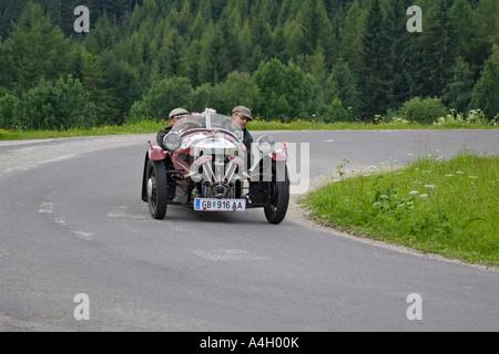 Morgan Threewheeler built 1934, oldtimer race Ennstal classic 2005, Styria, Austria - Stock Photo