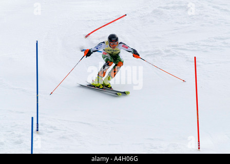 Kalle Palander, Finland, FIS Ski Worldcup, Slalom men, Kandahar race, Garmisch-Partenkirchen, Bavaria, Germany - Stock Photo