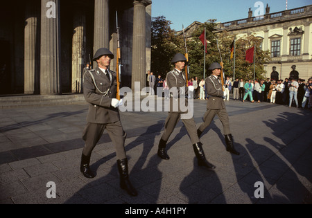Changing of the guard of the National People's Army, Zeughaus, East Berlin, GDR, Germany - Stock Photo