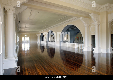 Newly restored ballroom in the Lightner Museum Building formerly the Hotel Alcazar in St Augustine Florida USA - Stock Photo