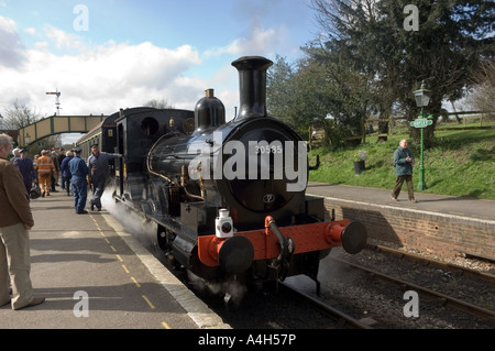 Beattie Well Tank Steam Locomotive at Ropley Station - 1 - Stock Photo