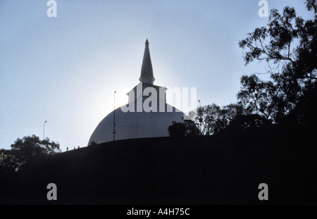 Dawn at the Mahaseya dagoba at the historic site of Mihintale near Anuradhapura northern Sri Lanka - Stock Photo