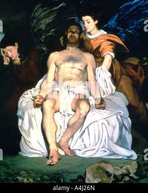 'The Dead Christ and the Angels', 1864. Artist: Edouard Manet - Stock Photo