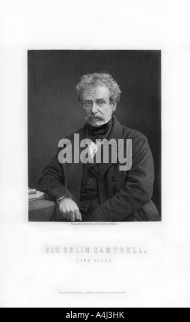 Field Marshal Sir Colin Campbell 1st Baron Clyde 1792 1863 Scottish soldier 1893  - Stock Photo