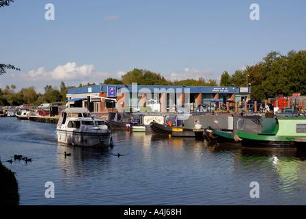 The 'White Bear Marina' on the Leeds/ Liverpool Canal, at Adlington. - Stock Photo