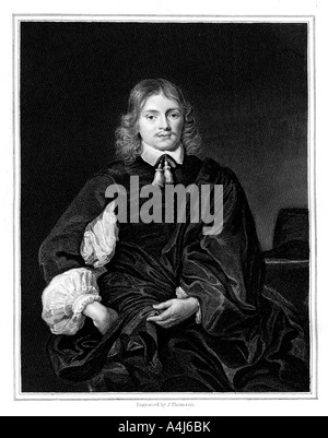 Lucius Cary, 2nd Viscount Falkland, (1827). Artist: J Thomson - Stock Photo