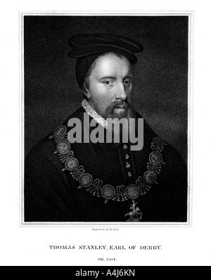 Thomas Stanley 1st Earl of Derby English nobleman 1827  - Stock Photo