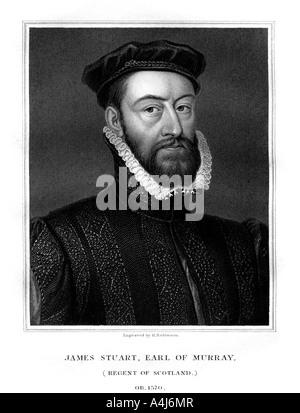 James Stewart 1st Earl of Moray Regent of Scotland 1827  - Stock Photo
