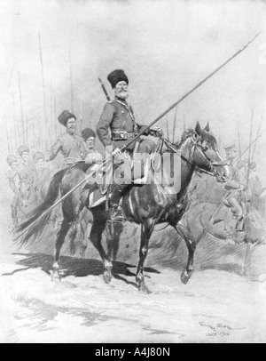 Cossack Cavalry 1914 1926  - Stock Photo