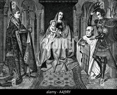 Madonna and Child with Canon Joris van der Paele 1436 1870  - Stock Photo