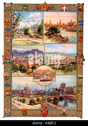 Capitals of the British Empire 1937  - Stock Photo