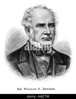Sir William Thomas Denison, Governor of New South Wales, (1886). Artist: Unknown - Stock Photo