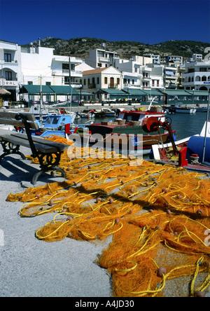 Pigadia Karpathos Aegean Sea Greece Europe - Stock Photo