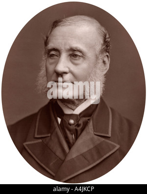 Sir Rutherford Alcock British diplomat and President of the Royal Geographical Society 1877  - Stock Photo