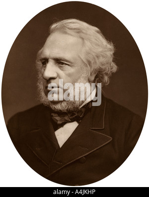 Sir Charles Reed chairman of the London School Board 1880  - Stock Photo