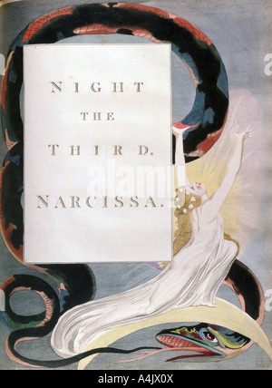 'Night the Third Narcissa', title-page from the 'Nights' of Edward Young's Night Thoughts, c1797. Artist: William - Stock Photo