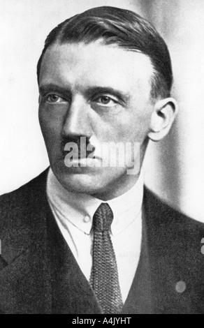 Adolf Hitler, German Nazi leader, 1923. Artist: Unknown - Stock Photo