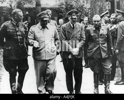 Adolf Hitler and senior Nazis July 1944  - Stock Photo