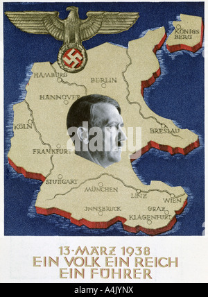 'One People, One Empire, One Leader', 13 March 1938. Artist: Unknown - Stock Photo