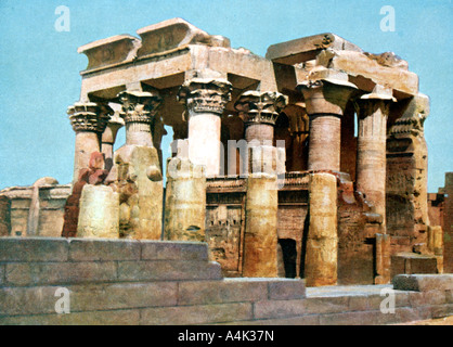 Temple of Kom Ombo, Egypt, 20th Century. Artist: Unknown - Stock Photo