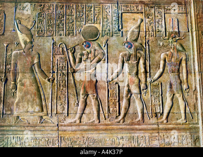 Hieroglyphic relief, Temple of Kom Ombo, Egypt, 20th Century. Artist: Unknown - Stock Photo