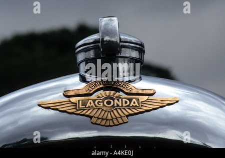 Lagonda car badge. English car manufacturer 1908 on - Stock Photo