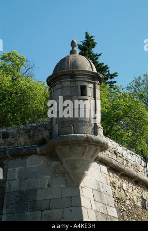 Medieval wall that surrounds the city of Évora - Stock Photo