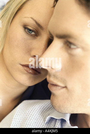 Young couple, close-up - Stock Photo