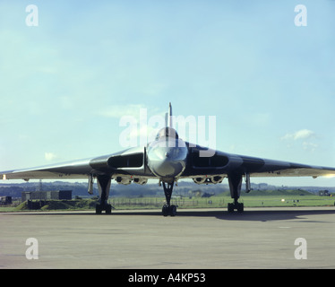 Avro Vulcan Bomber XH558 restored and Airworthy once more.   GAVM 2040-85 - Stock Photo