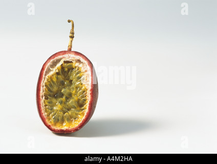Passion fruit half - Stock Photo