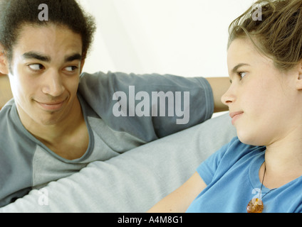 Young couple looking at each other - Stock Photo