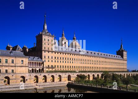 San Lorenzo de El Escorial monastery and palace burial place of Spanish Monarchs - Stock Photo