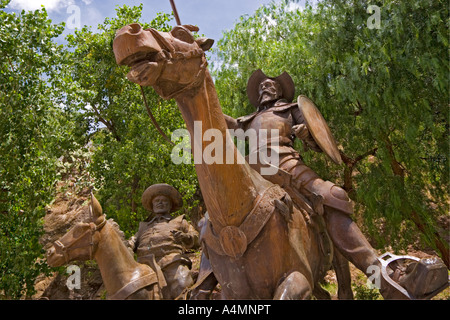 In Guanajuato, a sculpture portraying Don Quixote (Mexico). A Guanajuato, sculpture représentant Don Quichotte (Mexique). - Stock Photo