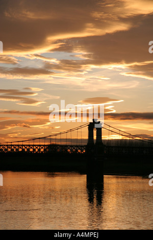 The Ferry Bridge, Stapenhill, Burton-on-Trent, Staffordshire, England at sunset - Stock Photo