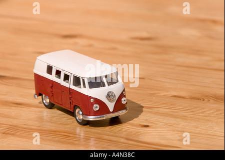 VW camper van model - Stock Photo