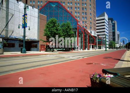 Main Street Buffalo New York USA - Stock Photo