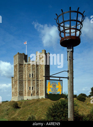 Orford Castle and Beacon, Suffolk - Stock Photo