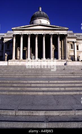 The National Gallery in Trafalgar Square, London, UK - Stock Photo